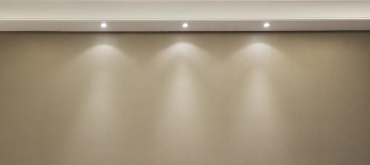 Einbauleuchten für die Beleuchtung der Arbeitsfläche